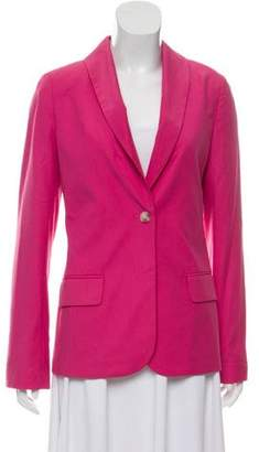 Elizabeth and James Shawl-Lapel Button-Up Blazer