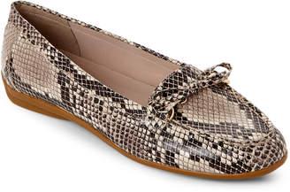 Easy Spirit Brown Antil Moc Toe Loafers