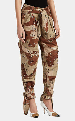 ATTICO RE/DONE + THE Women's Pleated Camouflage Cargo Pants - Sand