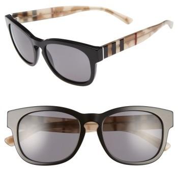 Women's Burberry 55Mm Retro Sunglasses - Black