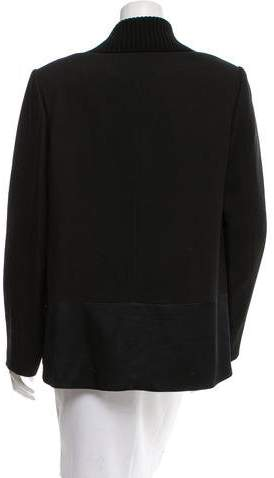 Jason Wu Rib Knit-Trimmed Open Front Jacket