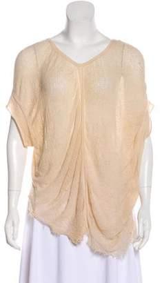 Raquel Allegra Distressed Short Sleeve T-Shirt