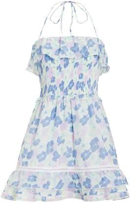Kisuii Cosmia Smocked Halter Mini Dress