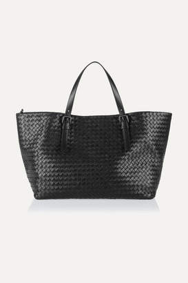 Bottega Veneta Intrecciato Leather Tote - Black