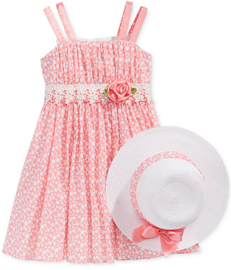 Bonnie Jean Dot-Print Dress and Hat, Toddler & Little Girls (2T-6X) $74 thestylecure.com
