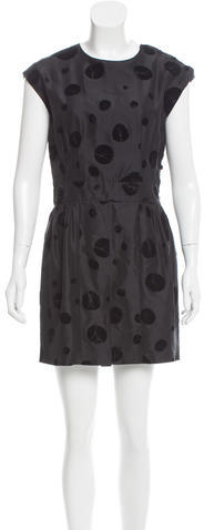 Balenciaga  Balenciaga Velvet-Accented Polka Dot Dress