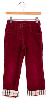 Burberry Girls' Corduroy Nova Check Bottoms