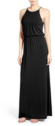 Women's Lush High Neck Maxi Dress $48 thestylecure.com