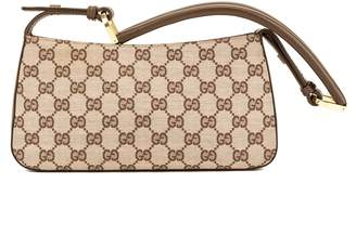 Gucci Pink and Brown GG Monogram Shoulder Pouch (3956007)