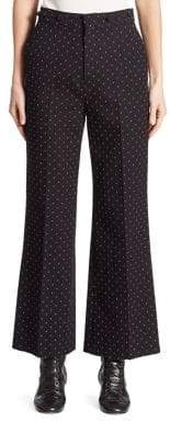 Chloé Dots Jacquard Wide-Leg Pants
