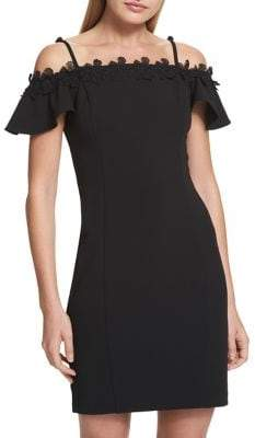 Kensie Dresses Cold-Shoulder Sheath Dress
