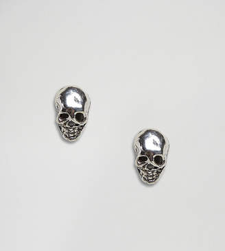 Kingsley Ryan Sterling Silver Skull Stud Earrings