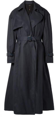 Ellery Illustrated Woman Cotton-gabardine Trench Coat - Navy