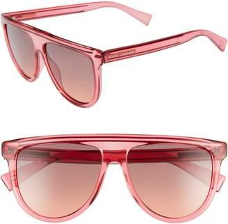 Marc Jacobs 57mm Gradient Flat Top Sunglasses