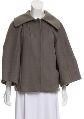 Alberta Ferretti Gathered Cashmere Coat