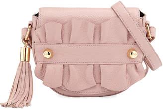 Milly Astor Ruffle Small Saddle Bag