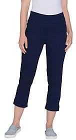 Denim & Co. Indigo Soft Stretch SmoothWaist Crop Jean