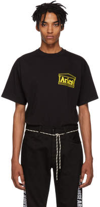 Aries Black Logo Four Squares T-Shirt