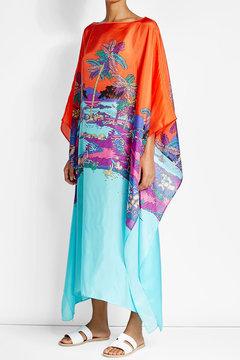 Emilio PucciEmilio Pucci Printed Silk Caftan Dress