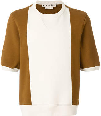 Marni colour block knitted top
