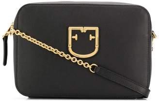Furla logo plaque shoulder bag