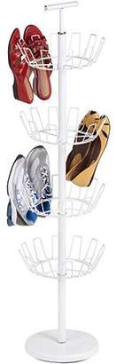 Honey-Can-Do 24-Pair Shoe Tree Rack with 4 Tiers, Multiple Colors