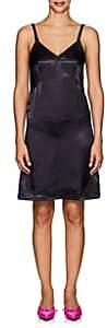 Helmut Lang Women's Satin Twist Mini-Slipdress - Navy