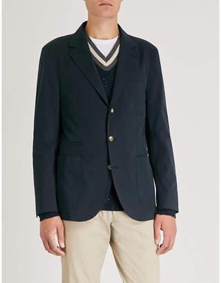 Brunello Cucinelli Slim-fit wool and cotton-blend jacket