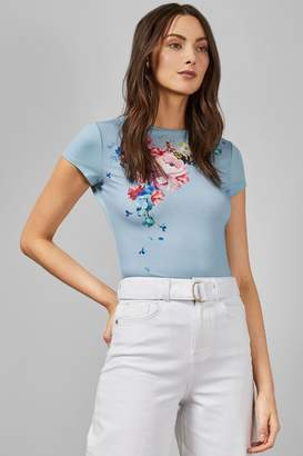 Ted Baker Womens Light Blue Ripple T-Shirt - Blue