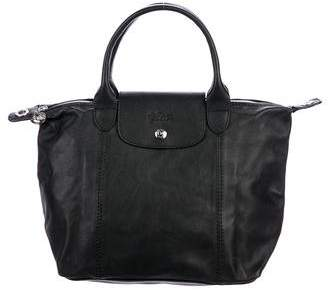 Longchamp Le Pliage Leather Tote