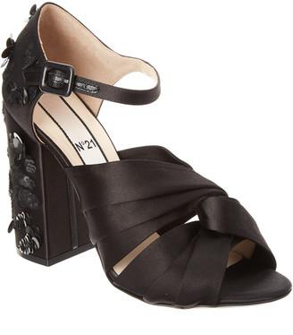 N°21 N21 Embellished Satin Knot Sandal