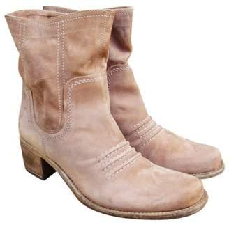 Vic Matié Beige Suede Ankle boots
