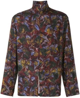 Lemaire zip-up floral print jacket