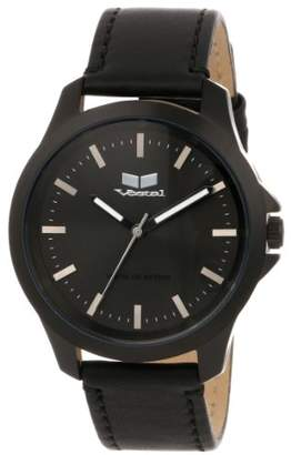 Vestal ' Heirloom Leather' Quartz Stainless Steel Casual Watch