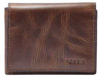 Fossil 'Derrick' Leather Flip Trifold Wallet