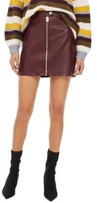 Topshop Penelope Faux Leather Miniskirt