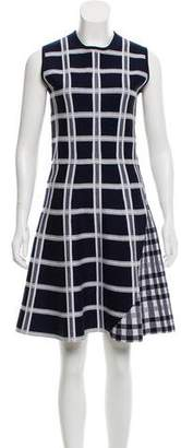 Victoria Beckham Plaid Wool Dress