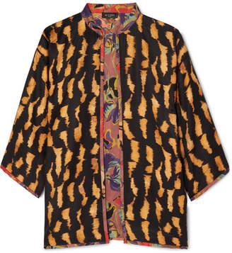 Etro Reversible Printed Silk-twill Jacket - Black
