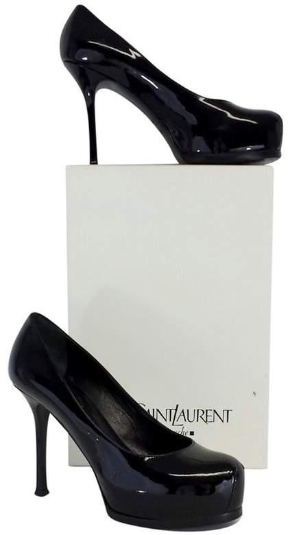 Yves Saint Laurent Black Patent Leather Pumps