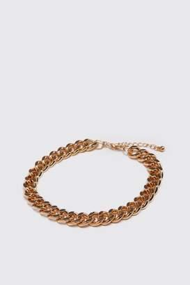 BoohoomanBoohooMAN Mens Metallics Medium Cuban Chain Link Bracelet, Metallics