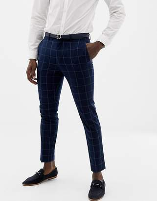 ONLY & SONS slim checked suit PANTS