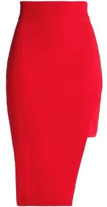 Nicholas Wrap-Effect Stretch-Ponte Skirt