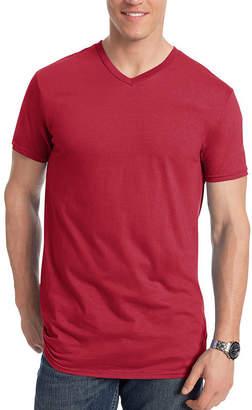 Hanes Short Sleeve V Neck T-Shirt