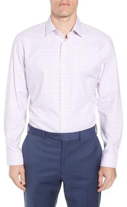 Nordstrom Tech-Smart Trim Fit Stretch Windowpane Dress Shirt