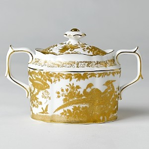 Royal Crown Derby Gold Aves Covered Sugar Bowl
