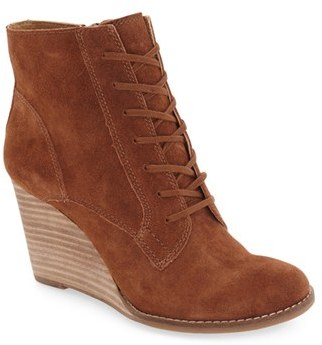 Women's Lucky Brand 'Yelloh' Wedge Bootie $138.95 thestylecure.com
