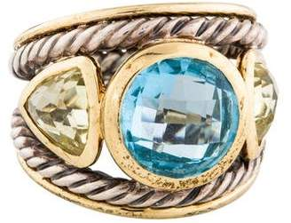 David Yurman Topaz & Citrine Renaissance Ring