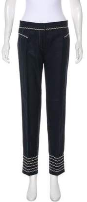 Louis Vuitton Embroidered Mid-Rise Pants