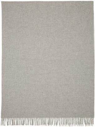 A.P.C. Grey Polska Scarf $190 thestylecure.com