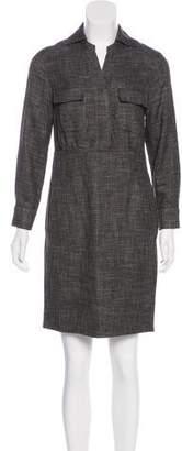 Agnona Tweed Knee-Length Dress